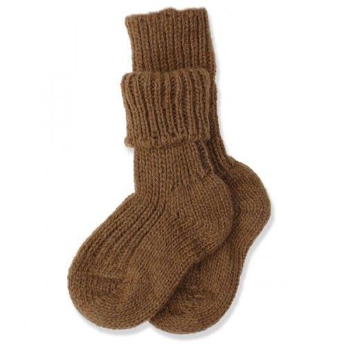 Strikket kameluld sokker
