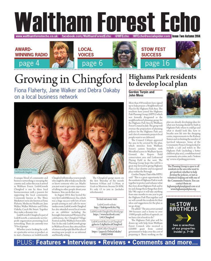 Fabulous @Link4Growth #Chingford ladies @walkerwebsites @fionaflaherty58 @debraoakaby in the news again! #L4G @paulviolet1945