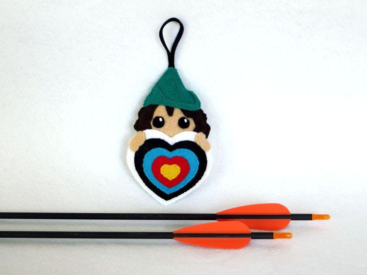 Cadeau archerie pour femmes, Robin des bois, tir à l'arc, cible, feutrine : Porte clés par i-believe-i-can-fil