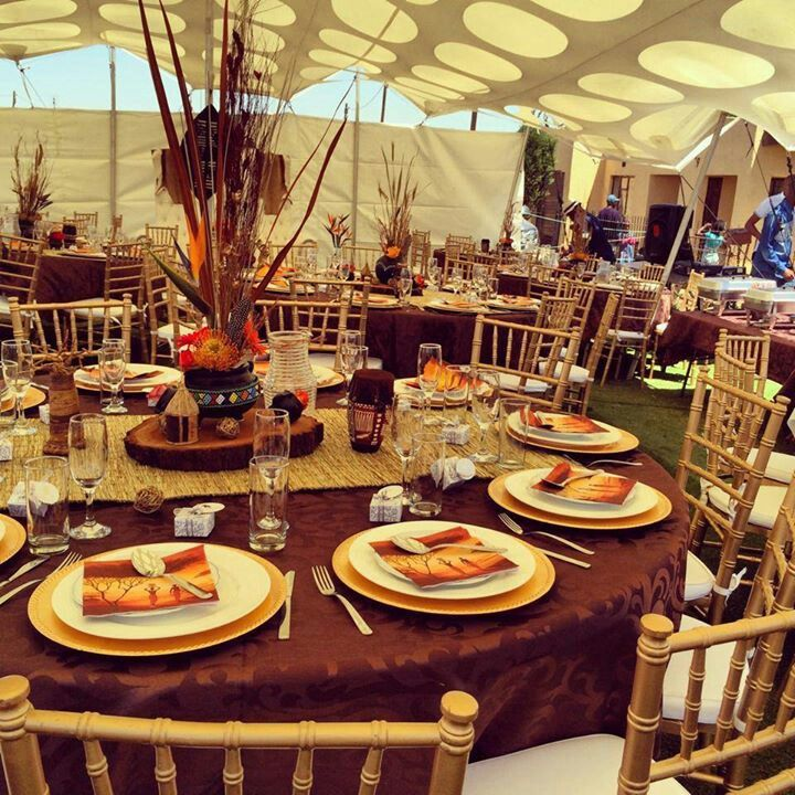 African Themed Tablescape. See More. Traditional Decor