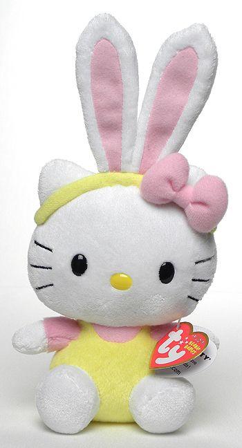 Hello Kitty (pink bunny ears) - Cat - Ty Beanie Babies