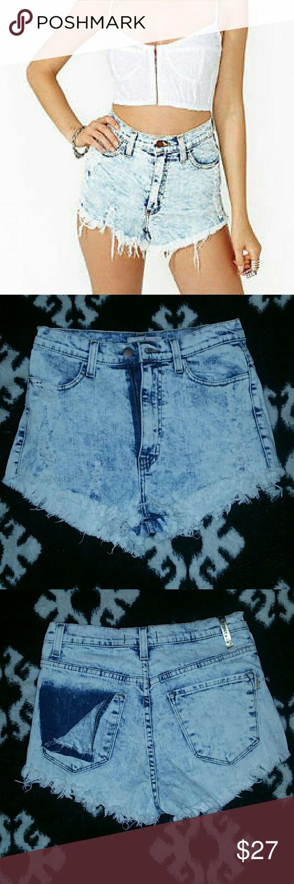 Vibrant m.i.u Acid washed shorts High waisted BRAND NEW Vibrant M.I.U Shorts