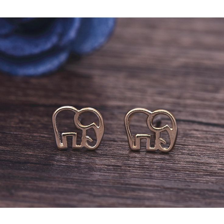 Womens Silver Jewelry Fashion cute Tiny Elephant  Stud Earrings Gift for Girls Friend Kids Lady