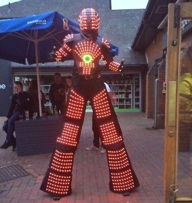 RGB change color LED Robot Costume Night Clubs Party LED Clothing/Light suits/ LED Robot suits/ Kryoman robot/ david robot