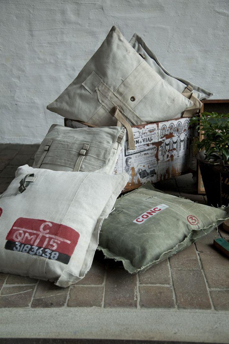 Army pillows.