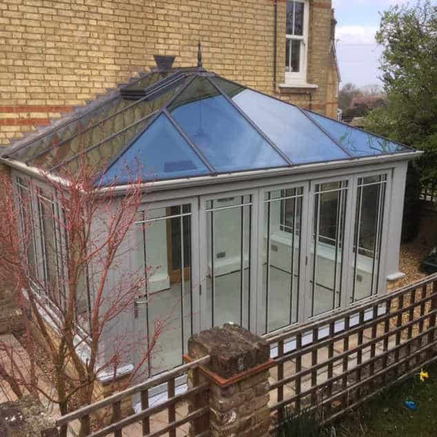 Everitt & Jones demolished an old conservatory and designed, built and installed a new one for the customer in Pirton, Hertfordshire.