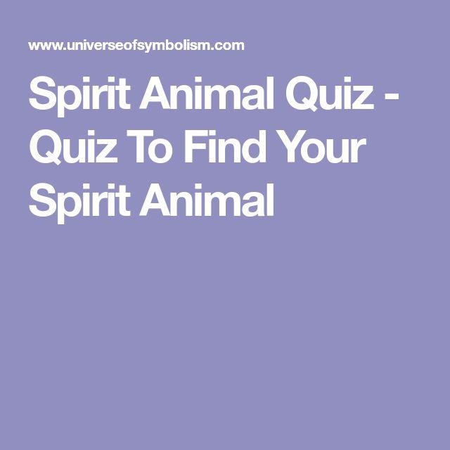 Spirit Animal Quiz - Quiz To Find Your Spirit Animal