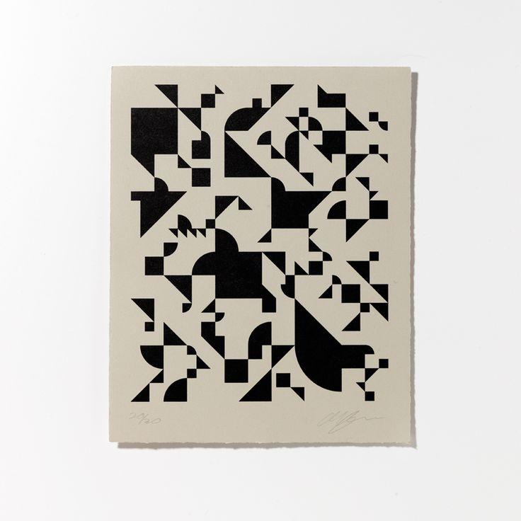 Shapes Black Print  / Unison