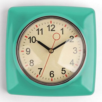 Superior Retro Wall Clock Mint
