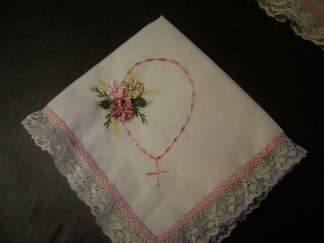 Como hacer servilletas de liston para bautizo - Imagui  e23557ed36b