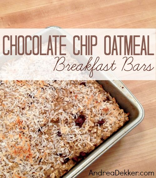 Chip Oatmeal Breakfast Bars Chocolate Chips, Oatmeal Breakfast Bars ...