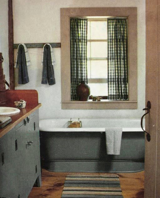 Country colonial bathroom pinterest curtain ideas for Colonial bathroom ideas