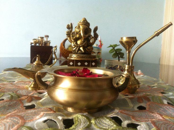Cute small brass Ganesha