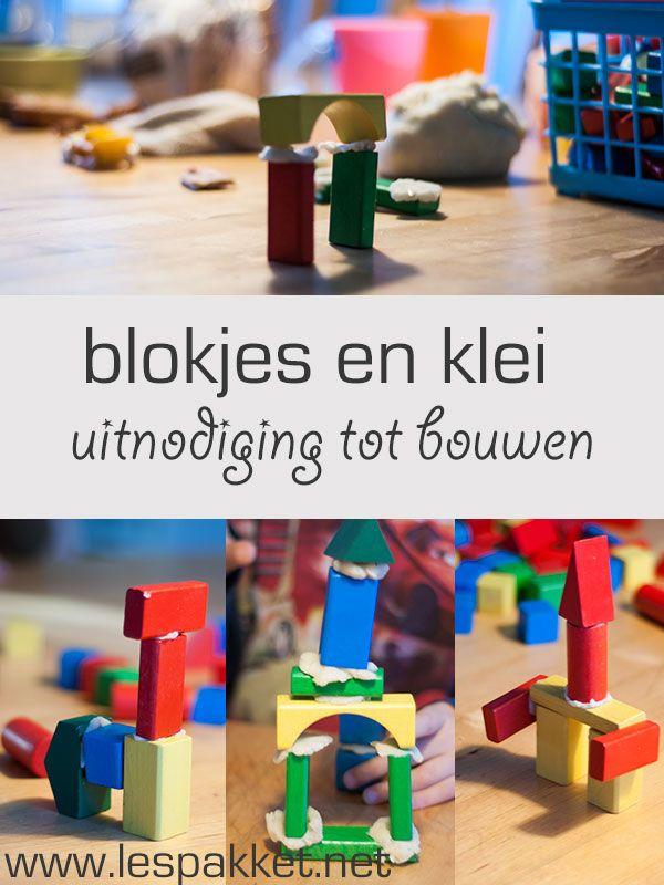 Uitnodiging tot bouwen: blokjes en klei - Lespakket - thema's, lesideeën en informatie - onderwijs aan kleuters