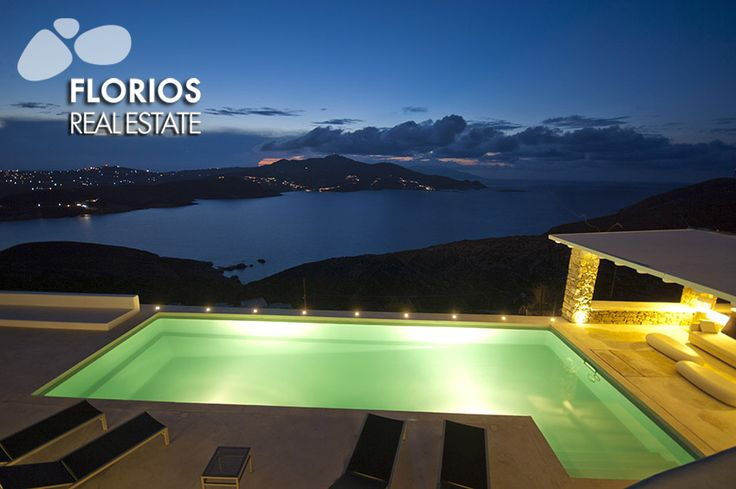 The magnificent sunset of this amazing Villa for Sale on Mykonos island Greece will take your breath away! Extraordinary sea view by the infinity pool. FL1467 http://www.florios.gr/en/mykonos-property/24.html