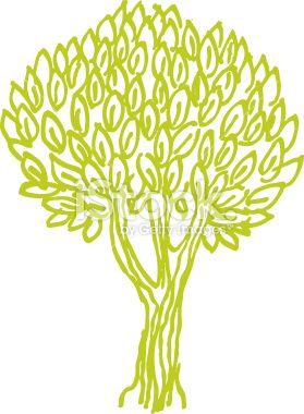 Olivier, Arbre, Pomme, Branche, Dessin Illustration vectorielle libre de droits