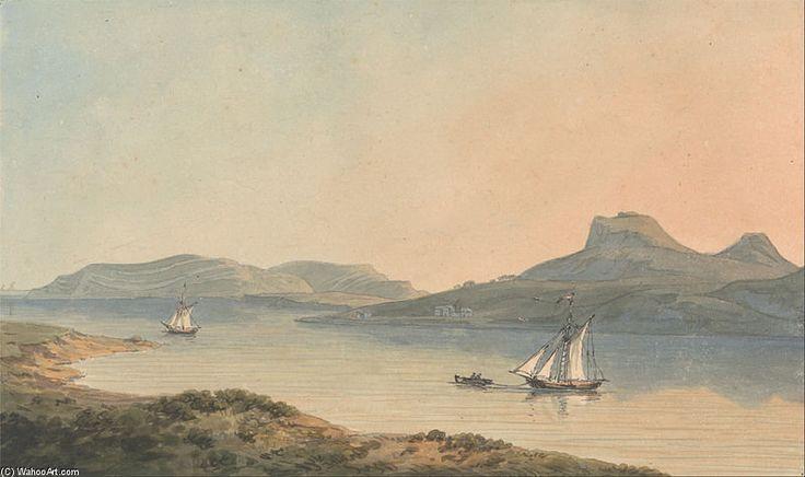Vue du château précoce de Diganwy de John Warwick Smith (1749-1831, United Kingdom)