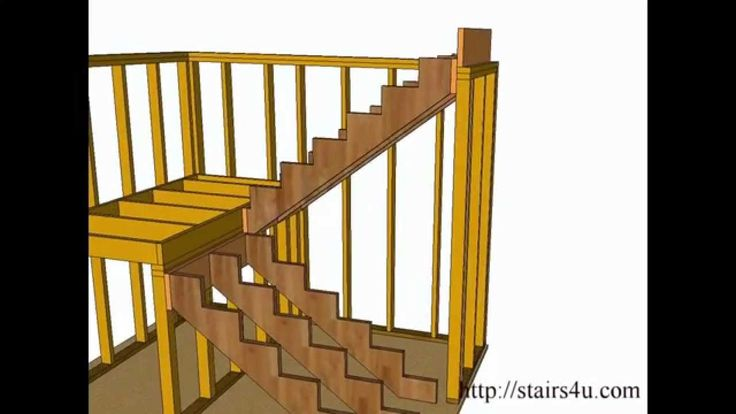 How To Build And Frame Stairs Landings U Shaped Stairs Stairs Pinterest Stairs Watches
