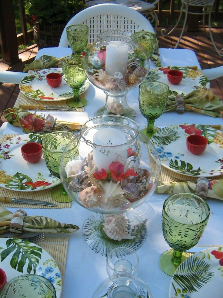 Aloha Ish Summer Tablescapes Summer Tablescapes At