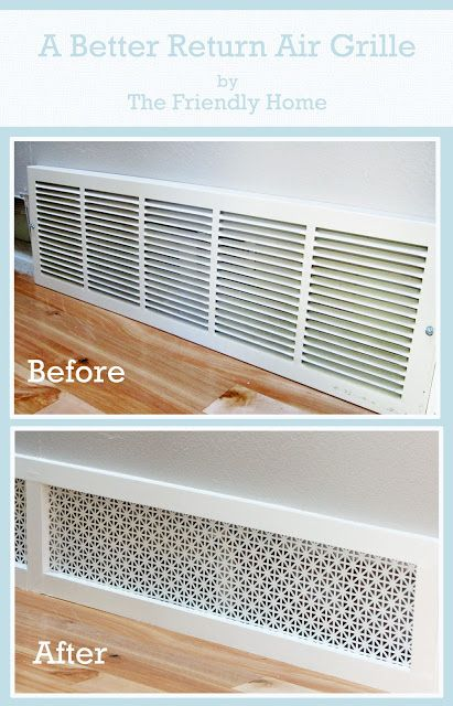 stylewithlaura: DIY: A Better Looking Air Return Grille than the standard builder issued one. So much prettier! Wish I could do this now since it's smack dab in the middle of our playroom. But, we're renting, so, going to save it for our next house.