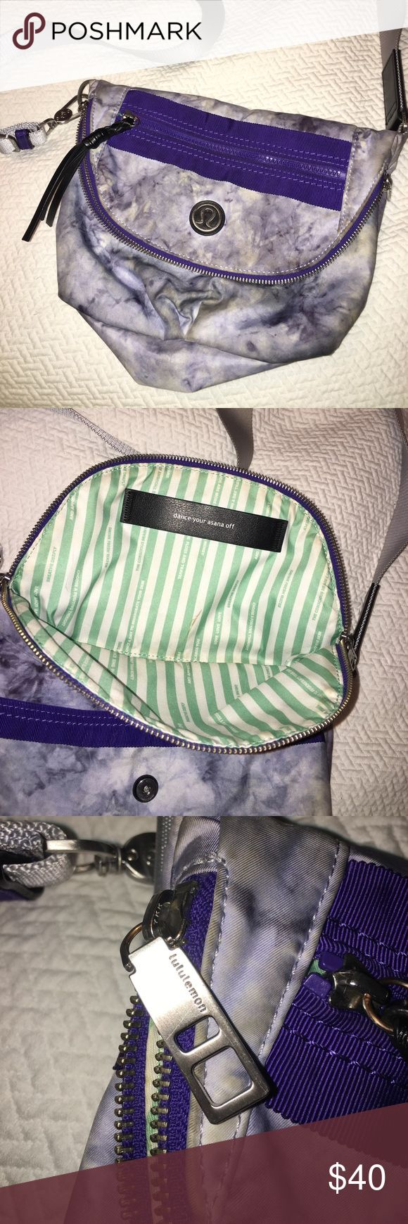 Lululemon Festival Bag Lululemon Festival Bag - purple tie-dye print - has some small marks but otherwise perfect condition - can be a cross body or fanny pack style lululemon athletica Bags Crossbody Bags