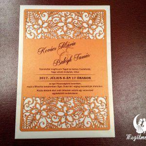 Exkluzív kis virágos lézervágott esküvői meghívó  #lézervágott #esküvői #meghívó #esküvőimeghívó #lasercutting #wedding #weddinginvitations #flowers