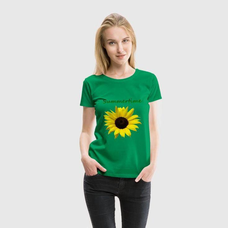 Sonnenblume Summertime Tops - Frauen Premium T-Shirt