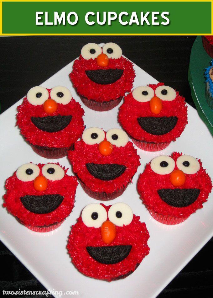 How To Make Elmo Cupcakes Sesame Street Party Ideas