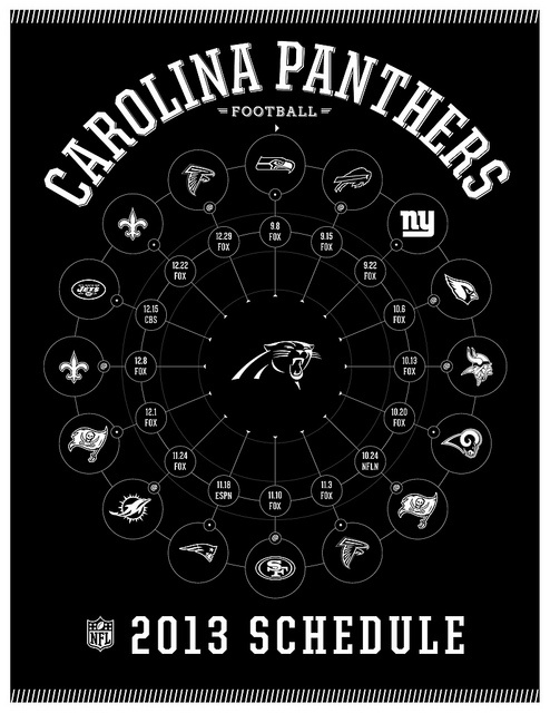 Carolina Panthers 2013 Schedule---I'm ready for some Carolina Panthers Football.