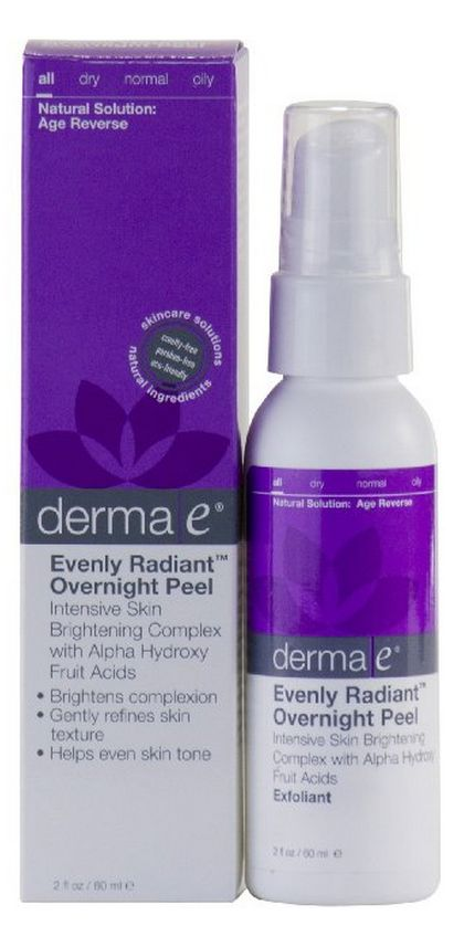 "Derma e Evenly Radiant Overnight Peel (""I love this vegan AHA peel"" - Vegangela.com)"
