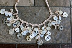Just be happy!: Crochet + Button Necklace {Free Pattern}