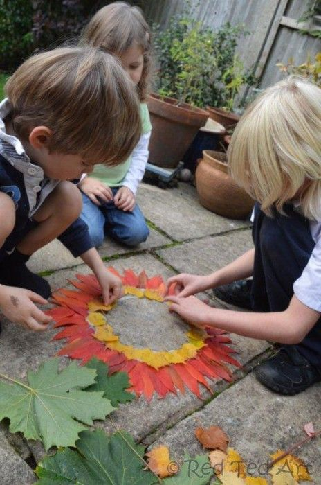 wonderful leaf craft for fall - exploring any goldsworthy