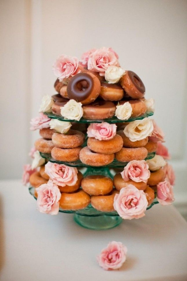 Donut Tasting Party and Wedding Cake Alternative | Shotgunning For Love Letters Blog Source: Meg Ruth
