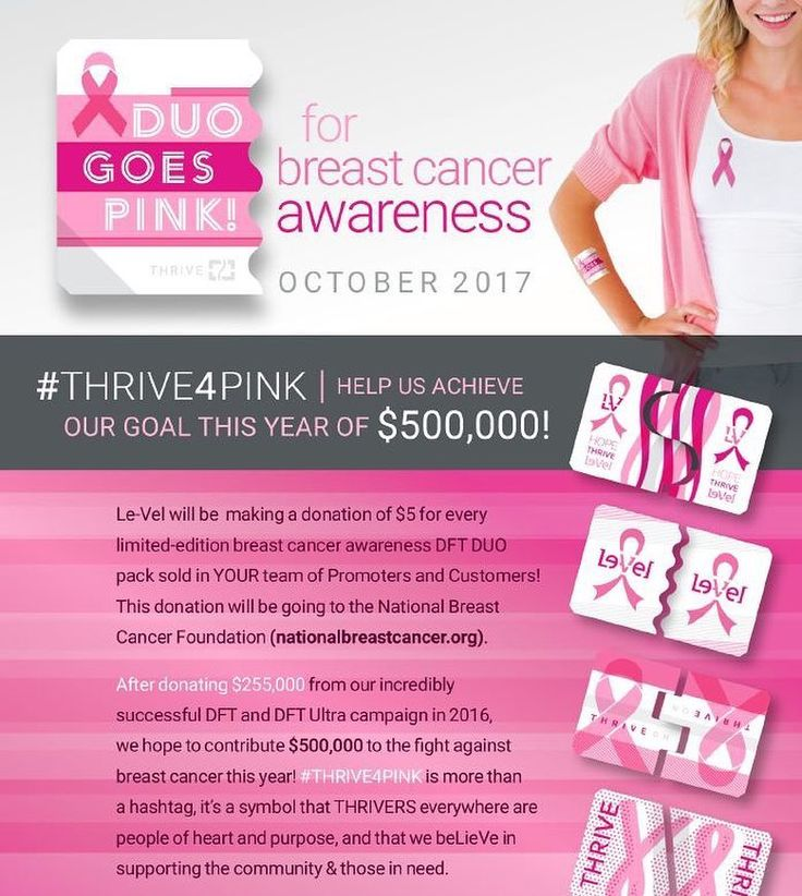 Whats better than feeling your best and helping others feel the same? Giving back!!! Its October and PINK is the color! Support the ta-tas while supporting the healthiest lifestyle you can have by getting BCA Pink DUO with your Thrive order. If youre currently thriving just change your autoship order to include the Pink DUO to help out with this cause. If you need help changing it lmk  Not Thriving yet?!!! Lets get you started! #bca #beeastcancerawareness #breastcancermonth #supportthetatas…