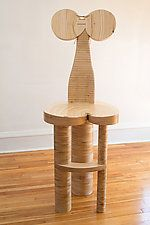 """Dolores by Nathalie Guez (Wood Chair) (60"""" x 22"""")"""