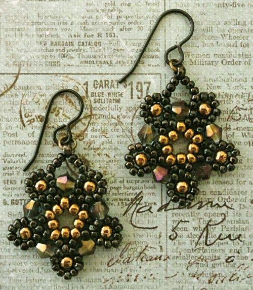 Linda's Crafty Inspirations: Free Pattern - Silver Moon Earrings