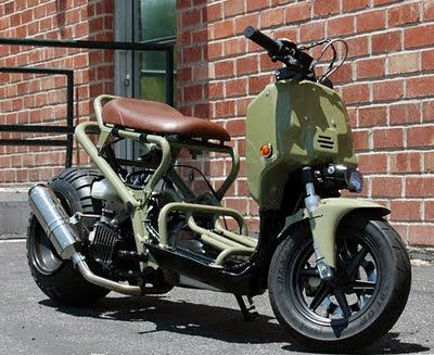 honda ruckus military | always like the honda ruckus in japan they call it honda zoomer no ...