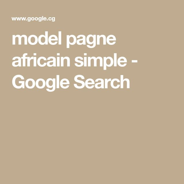model pagne africain simple - Google Search