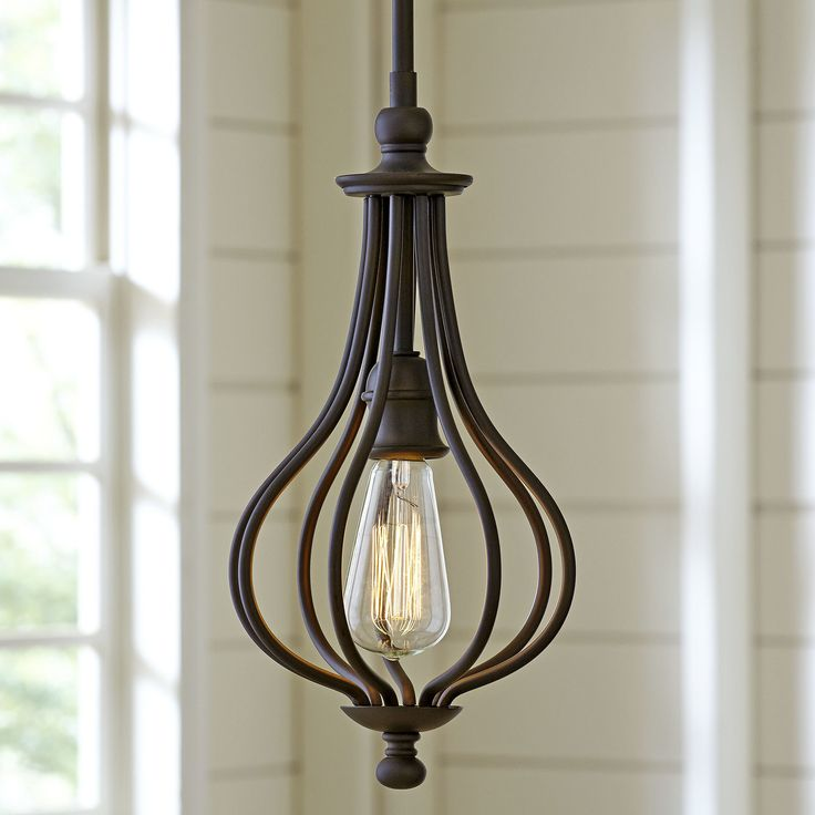 """Birch Lane Morrison Mini Pendant   Fixture: 16.25"""" H x 8.25"""" W x 8.25"""" D 36"""" Chain length Chain or Rod Length: 36 """" Overall Product Weight: 3.69 lbs"""