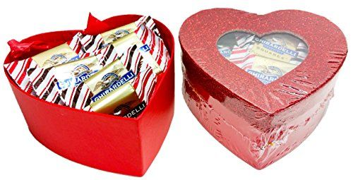 Share the Love  Glitter Heart Shaped Boxes Filled with Limited Edition Ghirardelli Pepermint Bark 4 oz ** View the item in details by clicking the VISIT button
