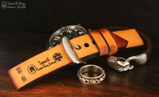 Curele de ceas, din piele, handmade. Topouzelli Straps.: Curea de ceas, handmade, T 830