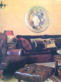 #SevimliMimarlik in #MarieClaireMaison #Turkey 1998 #livingroom #velvet #luxury #rich #autumn #colours