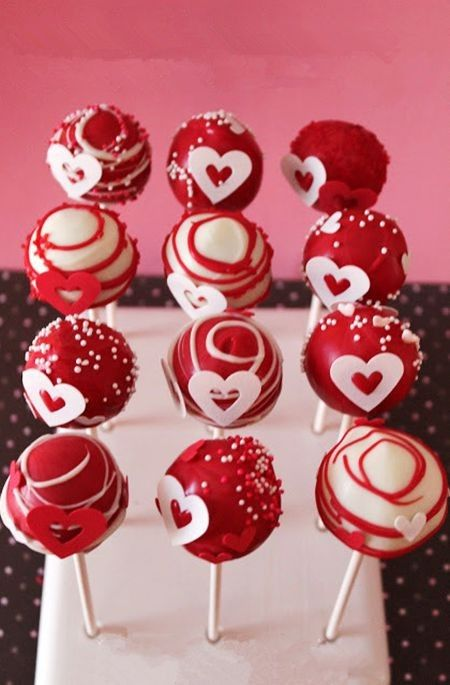 valentine cake pop bouquet