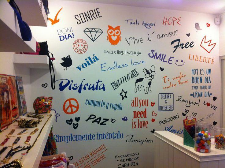 Wall Fanzine Pequeña Osadia, rotulacion en vinilo wall art matte (foto1)