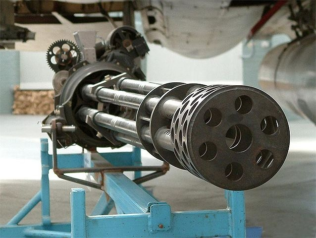 M61 Vulcan Six-barreled Gatling-style rotary cannon cal.20 mm.....  I have got to get me a couple of these!