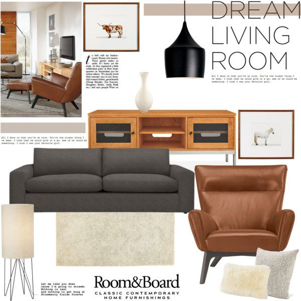 """Room & Board Dream Living Room Contest Entry"" by beg1214 on Polyvore"