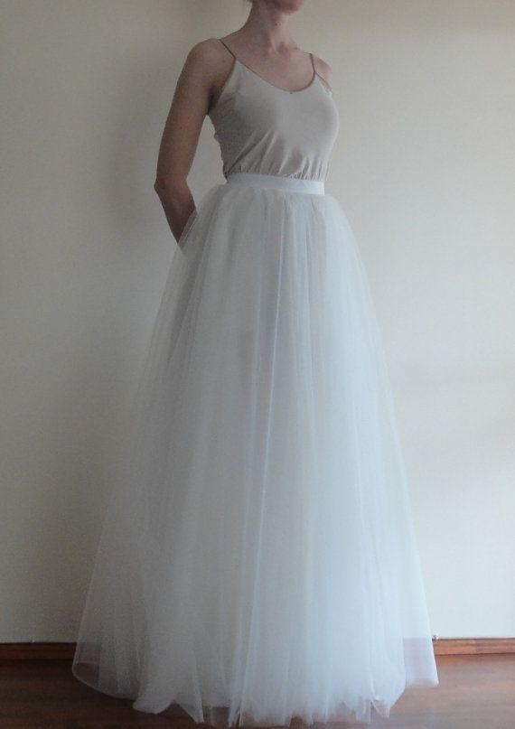 Tulle Maxi skirtFull LengthFloor length Bride by atelierLenaZh