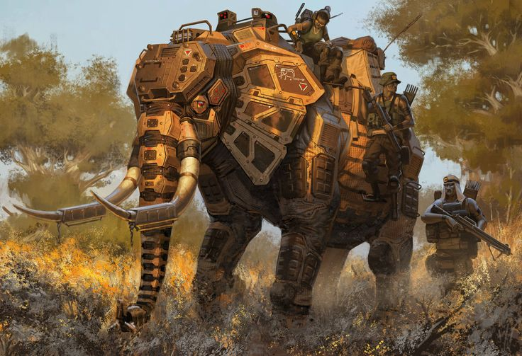 Robert Chew's mech animal illustrations