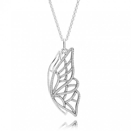 Pandora Butterfly Wing Necklace Pendant Sale