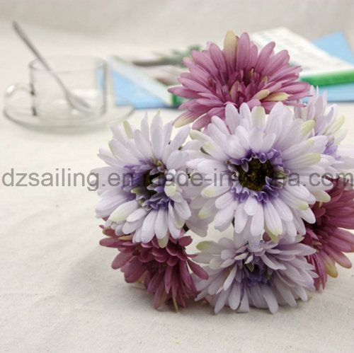 7 Heads Gerbera Bouquet Artificial Flower Used for Decoration (SF16183A)